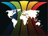 Earth,Map,World Map,Abstract,Rainbow,Arc,Global Communications,New,Global Business,The Americas,Black Color,Backgrounds,Sign,White,Light - Natural Phenomenon,Business,North,Africa,South,Green Color,Vector,Multi Colored,Direction,Design,Asia,Symbol,Cartography,Color Image,Ideas,Digitally Generated Image,Art,Shape,Blue,Arrow Symbol,Planet - Space,Australia,Creativity,Red,Computer Graphic,Communication,Orange Color,Europe,Concepts,Modern,Yellow,Bright,Copy Space,Ilustration,Business,Concepts And Ideas,Illustrations And Vector Art