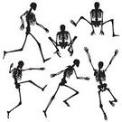 Human Skeleton,Running,Human Bone,Silhouette,People,Action,Jumping,Men,Biology,Vector,Set,Undead,Outline,Ilustration,Design Element,Physiology,Computer Graphic,Collection,People,Illustrations And Vector Art,morbid,Black Color