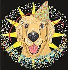 Vertical,Celebration,Surprise,Happiness,Cheerful,Animal,Party - Social Event,Birthday,Christmas,Dog,Star - Space,Backgrounds,Fun,Postcard,Greeting Card,Confetti,Illustration,Puppy,Vector,Karaoke,Pets,Cupcake,Holiday - Event,Background,Red,Nightcap