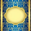 Frame,Beauty,Greeting Card,Geometric Shape,Ornate,Beautiful People,Color Gradient,Illustration,Greeting,Image,2015,Ribbon - Sewing Item,Circle,Light - Natural Phenomenon,Heart Shape,Decoration,Backgrounds,Curve,Midsection,Decor,Vector,Blue,Gold Colored,Textured,Pattern,Tracery,Dark