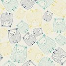 Abstract,Heat - Temperature,Paw,Background,Domestic Cat,Doodle,Animal,Cute,Template,Mammal,Summer,Illustration,Symbol,Animal Markings,Fashion,2015,Kitten,Seamless Pattern,Pets,Decoration,Drawing - Activity,Backgrounds,Animal Body Part,Arts Culture and Entertainment,Fun,Vector,Blue,Pattern,Yellow
