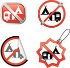 Camping,Motor Home,Mobile Home,Tent,Forbidden,Symbol,Label,Law,Vehicle Trailer,Computer Icon,Warning Sign,Vector,Outdoors,Prohibition Sign,Isolated On White,Illustrations And Vector Art,Holidays,not allowed,Transportation,Travel Locations,Vector Icons,Information Symbol,Sticky,Peeled,Shiny,Vacations,Recreational Pursuit