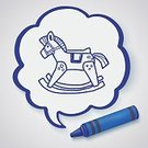 Child,Creativity,Childhood,Horse,Computer Graphics,Background,Sign,Doodle,Cute,Rocking,Pencil,Toy,Wood - Material,Illustration,Symbol,2015,Computer Graphic,Domestic Room,Drawing - Activity,Backgrounds,Pony,Vector,Scribble