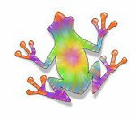 Frog,Tie Dye,Cartoon,Ilustration,Painted Image,Digitally Generated Image,Animals And Pets,Tie Dyed Frog,Amphibian,Multi Colored,Art