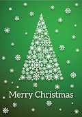 Celebration,No People,Greeting Card,Christmas,Snowflake,Illustration,2015,Christmas Tree,Decoration,Social Issues,Backgrounds,Snow,Environmental Conservation,Tree,Vector,Green Color