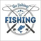 Letterpress,Background,Seafood,Sign,Outdoors,Equipment,Sea,Sword,Summer,Commercial Airplane,Illustration,Nature,Symbol,2015,Sport,Food,Hobbies,Fishing Rod,Insignia,Fisherman,Backgrounds,Vector,Fishing,Label,Blue,Badge