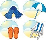 Sunshade,Beach,Parasol,Summer,Symbol,Chair,Tourist Resort,Computer Icon,Vector,Group of Objects,Sea,Diving Flipper,Chaise Longue,Slipper,Relaxation,Set,Ilustration,Fun,Isolated,Vacations,Lifestyles,Sand,Sun,Tropical Climate,Isolated Objects,Travel Locations,Water,Beaches,Illustrations And Vector Art,Blue,Isolated On White,Resting,Travel,Season