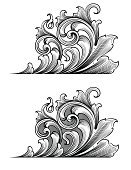 Art Deco,Engraving,Engraved Image,filigree,Acanthus Plant,Scroll Shape,Ornate,Leaf,Victorian Style,Art Nouveau,Gothic Style,Vector,Decoration,Retro Revival,Antique,Old-fashioned,Complexity,Black Color,Swirl,Spiral,Design Element,Cross Hatching,Elegance,Intricacy,Vector Ornaments,Vector Florals,Illustrations And Vector Art,Luxury,Vector Backgrounds