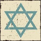 Star Of David,Judaism,Grunge,Dirty,Religious Symbol,Distressed,Spirituality,Religion,Vector,Square,Damaged,Blue,Lifestyle,Vector Icons,Design Element,Ilustration,Illustrations And Vector Art