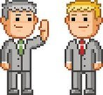 Adult,Pixelated,Horizontal,Cut Out,Partnership - Teamwork,Cooperation,Agreement,Strategy,Teamwork,Men,Contract,Meeting,Illustration,People,Businessman,Symbol,Business Finance and Industry,Communication,Business,Business Meeting,Business Strategy,Manager,Vector,Discussion,Occupation,Handshake