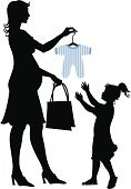 Human Pregnancy,Silhouette,Mother,Shopping,Child,Women,Little Girls,Fashion,Small,Offspring,Elegance,New,Bag,Clothing,Vector,Human Hand,Dress,Cool,Happiness,Cheerful,People,Customer,One Person,Female,Standing,Preparation,Shape,Beautiful,Care,Waiting,Love,Life,Illustrations And Vector Art,People,Lifestyles,Lifestyle,Beauty,Ilustration,Cute,New Life