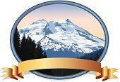 Mountain,Mountain Peak,Mountain Climbing,Snow,Cascade Range,Sierra,Pinnacle,Banner,Insignia,Tree,On Top Of,Climbing,North Cascades National Park,Award,Outdoors,Nature,Gold Colored,Freshness,Geological Feature,Extreme Sports,Nature Symbols/Metaphors,Sports And Fitness,Nature