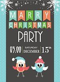 Celebration,Humor,Bear,Holiday - Event,Greeting Card,Placard,Ornate,Paper,Christmas,Congratulating,Illustration,Greeting,December,2015,Inviting,Invitation,Winter,Bird,Tree,Fun,Vector,Party - Social Event