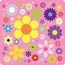 Flower,Daisy,Floral Pattern,Sunflower,Vector,Ilustration,Hibiscus,Clip Art,Multi Colored,Design,Color Image,accent,Vector Icons,Flowers,Clipping Path,Illustrations And Vector Art,Nature