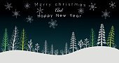 No People,Outdoors,Greeting Card,New Year's Eve,New Year's Day,Christmas,Christmas Card,Snowflake,Illustration,December,Pinaceae,2015,Winter,Copy Space,Christmas Tree,New Year,Forest,Landscape,Backgrounds,Snow,Modern,Snowing,Typescript,Pine Tree,Tree,Vector,Ice,Green Color,Text