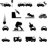 Auto Accidents,Symbol,Accident,Crash,Computer Icon,Fire Engine,Tow Truck,Police Car,Stick Figure,Flat Tire,Ambulance,Icon Set,Fire - Natural Phenomenon,Land Vehicle,Colliding,Rock - Object,Falling,Wave,Tree,Water,Black And White,Cliff,Simplicity,Sinking,Isolated On White,Sparse,Hit And Run,Falling Rock,Upside Down