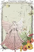 Fairy,Angel,Butterfly - Insect,Flower,Vector,Frame,Sketch,Grunge,Backgrounds,Ilustration,Drawing - Art Product,Clip Art,People,Illustrations And Vector Art