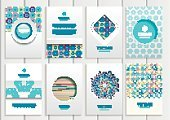 Creativity,Computer Graphics,Book,Template,Packaging,Collection,Illustration,Shape,2015,Computer Graphic,Plan,Space,Brochure,Decoration,Gift,Backgrounds,Plan,Vector,Label,Giving,Blue,Beige,Pattern