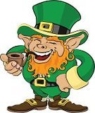 Leprechaun,St. Patrick's Day,Laughing,Hat,Irish Culture,Republic of Ireland,Cartoon,Smoking,Cheerful,Male Likeness,Costume,Happiness,Pipe,Mythology,Vector,Ilustration,luck of the irish,Standing,Traditional Clothing,White Background,Beard,Green Color,Smiling,Vertical,Illustrations And Vector Art,People,One Person,Redhead,Carefree,Holidays And Celebrations,Full Length