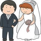 Adult,Simplicity,Females,Men,Women,Males,Engagement,Sketch,Love,Doodle,Cute,Wedding,Cartoon,Illustration,People,Wife,Husband,Bride,Human Body Part,2015,Inviting,Couple - Relationship,Heterosexual Couple,Invitation,Bridegroom,Drawing - Activity,Married,Human Hand,Tied Bow,Wedding Ceremony,Vector,Group Of Objects,Dress,Smiling
