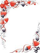 Heart Shape,Frame,Valentine's Day - Holiday,Love,Corner,Focus On Background,Red,Backgrounds,Vector,Ribbon,Black Color,Flowing,Bow,Romance,Bow,Angle,Conceptual Symbol,Symbol,White Background,Valentine's Day,Wedding decoration,Holidays And Celebrations,Vector Backgrounds,Illustrations And Vector Art,No People,Copy Space,Vertical,Decoration