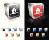 Earthquake,Broken,Symbol,House,Disaster,Shiny,Three-dimensional Shape,Computer Icon,Reflection,Sparse,Vector,Insurance,Black Background,White Background,Breaking,Digitally Generated Image,Modern,Blue,Metal,Empty,Natural Disaster,Green Color,Orange Color,Accident,Red,Computer Graphic