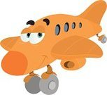 Airplane,Cartoon,Cute,Air Vehicle,Commercial Airplane,Jet - Band,Human Eye,Vector,Private Airplane,Orange Color,Smiling,Isolated,Wing,Landing - Touching Down,Jet Engine,Corporate Jet,Engine,Turbine,Air Travel,Transportation,Travel Locations,Isolated On White,Vector Cartoons,Looking,Illustrations And Vector Art