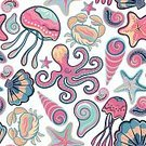 No People,Summer,Illustration,Nature,Backdrop,Seamless Pattern,Backgrounds,Vector,Pattern