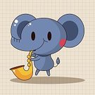 Background,Animal,Cute,Guitar,Orchestra,Illustration,Zoo,Trumpet,Backgrounds,Elephant,Musician,Fun,Vector