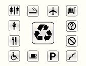 Sign,Staircase,Physical Impairment,Recycling,Recycling Symbol,Fork,Computer Icon,Table Knife,Cigarette,Male,Female,Airplane,Vector,Safety,Transportation,Set,Icon Set,Wheelchair,Banner,Direction,Men,Question Mark,Luggage,Cup,Warning Symbol,Variation,Information Medium,Arrow Symbol,Vector Icons,Illustrations And Vector Art