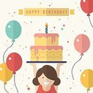 Child,Teenager,Sparse,Elegance,Celebration,Creativity,Simplicity,Childhood,Girls,Teenage Girls,Birthday Cake,Banner,Sign,Candle,Greeting Card,Ribbon,Cheerful,Fashionable,Illustration,People,Computer Icon,Birthday,Symbol,Fashion,Banner - Sign,Bright,Funky,Happiness,Flat,Youth Culture,Balloon,Brochure,Flyer - Leaflet,Cake,Modern,Arts Culture and Entertainment,Web Page,Vector,Bright,Design,Vibrant Color,Multi Colored,Greeting