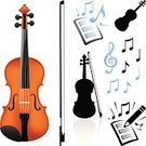 Violin,Music,Musical Note,Musical Instrument,Vector,Symbol,Computer Icon,Education,Musical Symbol,Sheet Music,Icon Set,Computer Graphic,Ilustration,Digitally Generated Image,Simplicity,No People,Music Book,Colors,Color Image