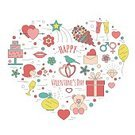 Adult,Air Kiss,Celebration,Romance,Men,Women,Computer Graphics,Day,Love,Sign,Wedding,Valentine's Day - Holiday,Illustration,Computer Icon,Symbol,Inviting,Valentine Card,Flat,Invitation,Computer Graphic,Bird,Gift,Cake,Vector,Design