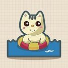 Background,Animal,Cute,Sea,Summer,Illustration,Nature,Animal Markings,Backgrounds,Beach,Fun,Vector,Pattern