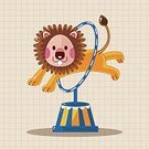Background,Animal,Cute,Collection,Illustration,Performer,Circus,Clown,Backgrounds,Elephant,Lion - Feline,Fun,Vector