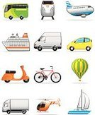 Van - Vehicle,Bus,Car,Bicycle,Computer Icon,Airplane,Transportation,Motorcycle,Helicopter,Train,Icon Set,Travel,Mode of Transport,Land Vehicle,Sailing Ship,Hot Air Balloon,Set,Vector,Cruise Ship,Passenger Ship,Ilustration,Truck Driver,Motor Scooter,Transportation,Illustrations And Vector Art,Vector Icons