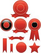 Certificate,Badge,Award,Seal - Stamp,Award Ribbon,Medal,Label,Perks,Red,Ribbon,Gold Colored,Computer Icon,Vector,Banner,Success,Icon Set,Incentive,Design,Competition,Winning,Placard,Shiny,Sport,Color Gradient,Competitive Sport,First Place,Third Place,Celebration,Second Place