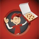 Pizza,Delivering,Food,Pizzeria,Men,Cartoon,Vector,Take Out Food,Lunch,Cooking,OK Sign,Restaurant,Fast Food Restaurant,T-Shirt,Fast Food,Young Men,Ilustration,Lunch Break,Cheese,Smiling,Cute,Breakfast,Trucker's Hat,Toothy Smile,Red Background,Clip Art,Red,Cap,Sweatshirt,Meal,Shirt,Cardboard Box,Hat,White,Black Olive,Edible Mushroom,Smirking,Dairy Product,Dinner,White Mushroom,Pub Food,Food And Drink,Illustrations And Vector Art,Smoked Cheese,Appetizer,People,Caucasian Ethnicity,Mozzarella,Green Peppercorn,Buffalo Mozzarella,Smoked Mozzarella,Junk Food/Fast Food,Vector Cartoons