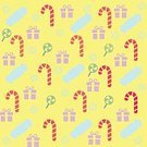 No People,Doodle,Cute,Lollipop,Holiday - Event,Wallpaper,Christmas,Illustration,Food,Dessert,Vector,Party - Social Event