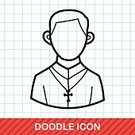Adult,Men,Women,Doodle,Cute,Illustration,People,Symbol,Business Finance and Industry,Business,Manager,Vector,Occupation