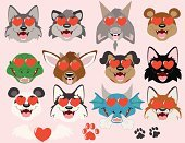 Wolf,Sled Dog,Fox,Paw Print,Panda,Dragon,Dinosaur,Bear,Cartoon,Paw,Goat,Emoticon,Tyrannosaurus Rex,Cute,Raccoon,Rottweiler,Artificial Wing,Animal,Heart Shape,Valentine's Day - Holiday,Vector,Wing,Domestic Cat,Deer,Love,Smiley Face,Black Color,Concepts And Ideas,Theropod,Feelings And Emotions,Animals And Pets,Illustrations And Vector Art,Vector Icons