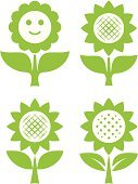 Sunflower,Cartoon,Simplicity,Sparse,Flower,Vector,Herb,Ilustration,Plant,Isolated,Growth,Nature,Green Color,Design Element,Design,Environment,Illustrations And Vector Art,Flowers,Vector Florals,Image,Plants,Nature,Isolated On White,Clip Art,Leaf,Stem