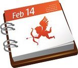 Calendar,Cupid,Valentine's Day - Holiday,Advent Calendar,Day,Angel,Symbol,Month,Week,Love,Event,Calendar Date,Arrow,Silhouette,Sign,Vector,Red,Day of the Week,Ilustration,Celebration,Year,Shape,Conceptual Symbol,Valentine's Day,Holiday Symbols,Holidays And Celebrations,Illustrations And Vector Art,Vector Icons,Cute