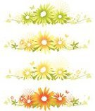 Butterfly - Insect,Flower,Floral Pattern,Vector,Backgrounds,Green Color,Springtime,Ivy,Yellow,Summer,Blossom,Leaf,Orange Color,Ornate,Design,Silhouette,Flower Head,Design Element,Swirl,Freshness,Vibrant Color,Elegance,Decor,Nature,Vector Florals,Copy Space,Gardens,Flowers,Illustrations And Vector Art,Nature,Beauty In Nature