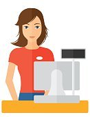 One Person,Cartoon,Illustration,People,Flat,Technology,Currency,Vector,Computer,Design,Occupation