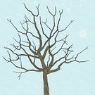 Tree,Bare Tree,Line Art,Winter,Snow,Vector,Ilustration,Pattern,Seamless,Abstract,Wind,Snowflake,Blue,Snowing,Nature Abstract,Nature Symbols/Metaphors,Illustrations And Vector Art,Nature