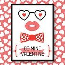 Romance,Banner,Love,Human Lips,Holiday - Event,Ribbon,Tying,Illustration,Banner - Sign,Hipster - Person,Heart Shape,Backgrounds,Tied Bow,Vector,Greeting,Necktie,Pattern,Sunglasses