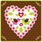 Cute,Valentine's Day - Holiday,Bird,Single Flower,Loving,Easter,Flower,Heart Shape,Kissing,Love,Vector,Ilustration,Banner,Flying,Placard,Valentine Card,Couple,Frame,Springtime,Romance,Leaf,Silhouette,Ornate,Shape,Valentine's Day,Weddings,Holidays And Celebrations,Nature