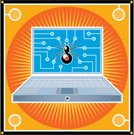 Circuit Board,Computer Bug,Network Security,Computer,Spider,Firewall,infected,Security,Laptop,infect,Illustrations And Vector Art,internet security,spy-ware