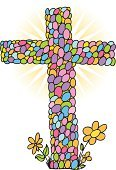 Easter,Cross,Cross Shape,Christianity,Eggs,Easter Egg,Crucifix,Cartoon,Animal Egg,Flower,Vector,Ilustration,Vector Backgrounds,Easter,Vector Cartoons,Illustrations And Vector Art,Computer Graphic,Holidays And Celebrations